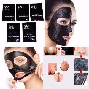 Máscara Removedora De Cravos Espinhas Black Head – Preta Hidrata Colageno – 5 Uni