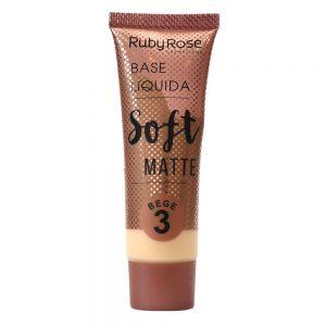 Base líquida soft matte bege 3 – Ruby Rose