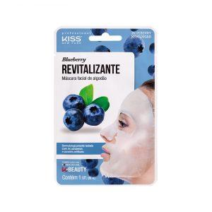 Máscara Facial de Algodão – Blueberry